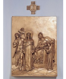 Stations of the Cross by Demetz Art Studio - Bronze Finish Fiberglass