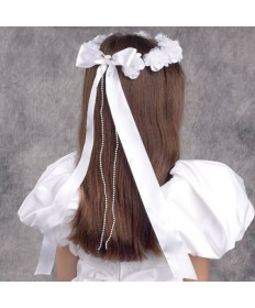 First Communion Wreath Veil - Elegant Dream