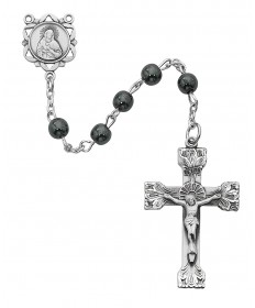 6 mm Genuine Hematite BeadsSterling Solver Rosary