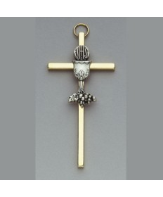 First Communion Cross with Chalice Design 3.5""