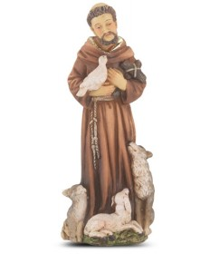 "Patron Saint Statue 4"" - St Francis of Assisi"