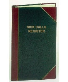 Sick Call Register for 2,500 Entries