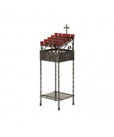 Wrought Iron Votive Light Stand - 25 Lights