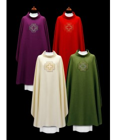 Chasuble by Alba with Embroidered Cross
