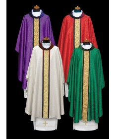 Chasuble by Alba in Damask Fabric