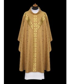 Chasuble by Alba Gold with Gold Braid