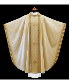 Chasuble by Alba Hand Made with Embroidered Crosses