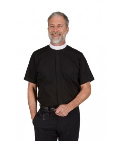 Neckband Clergy Shirt Short Sleeve by R.J.Toomey Co.