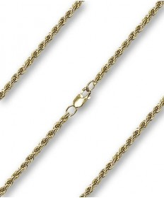 "20"" Chain Gold Filled French Rope with Clasp (2.40mm)"
