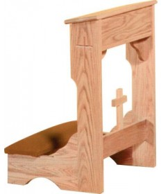 Prie Dieu with Shelf and Cross