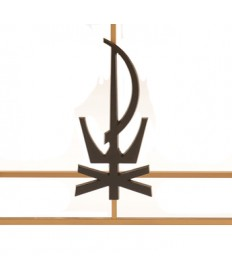 Modern Chi-Rho Symbol for Votive Stand