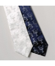 First Communion Tie - Deluxe White Damask