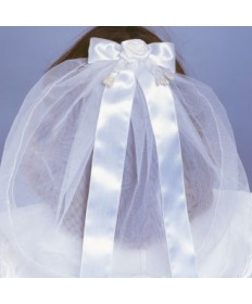 First Communion Veil with Flower