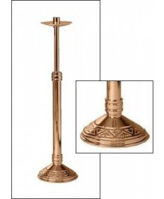 "Excelsis Processional Candlestick 44""H, 10.5"" Base"