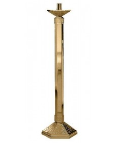 "Excelsis Paschal Candlestick 48""H, 12""x14"" Base"