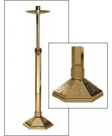 "Excelsis Processional Candlestick 44""H, 10"" Base"