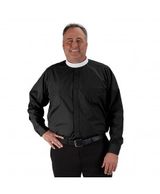 Roomey Toomey Neckband Clergy Shirt Long Sleeve by R.J.Toomey Co.