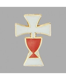 First Communion Lapel Pin - Chalice and Cross