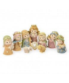 "2.25"" Yarn Nativity Set"
