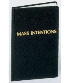 Mass Intentions Record Book for 2,500 Entries