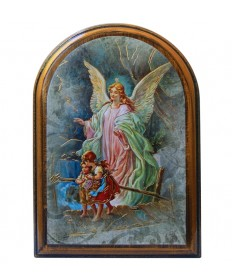 "Guardian Angel Wooden Plaque 4"" x 5"""