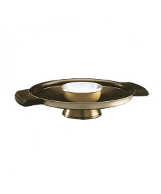 Brass Brazier with Wood Handle