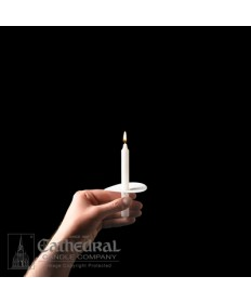 """5"""" Congregational Stearine Candles with Drip Protectors"""