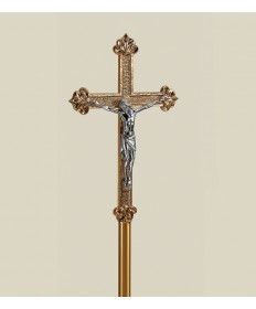 "Processional Crucifix with Budded Ends 84""H"