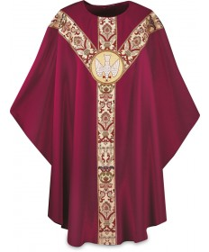 Chasuble by Slabbinck in Dupion Fabric with Holy Spirit Emblem