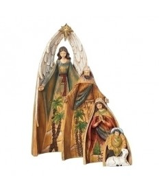 "Nesting 4 pc Nativity 11""H"
