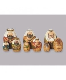 "Nesting 9 pc Nativity 6""H"
