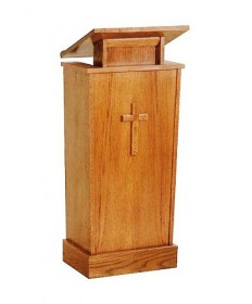 Adjustable Lectern with Shelf by Woerner Industries