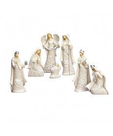 """Papercut Look"" 7 piece Nativity Set 7.5"""