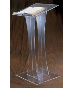 "Acrylic Lectern with Acrilic Top 43""H"