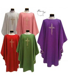 Chasuble by Solivari in Micro Monastico Style Fabric