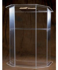 Acrylic Pulpit - Plain with Shelf