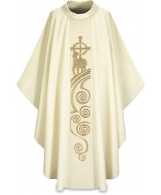 Chasuble by Slabbinck in Cantate Fabric - Lamb of God