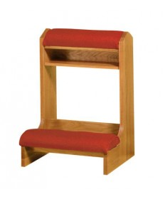 "Prie Dieu with Shelf and Padded Armrest 25""W"