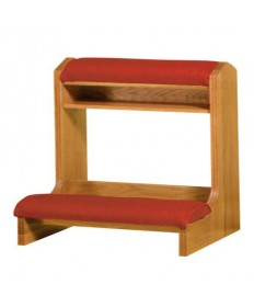 "Prie Dieu with Shelf with Padded Armrest 40""W"