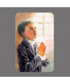 First Communion Prayer Card for Boys