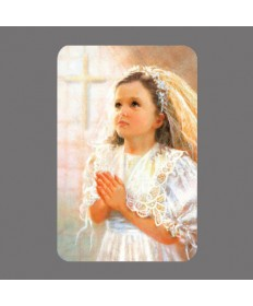 First Communion Prayer Card for Girls