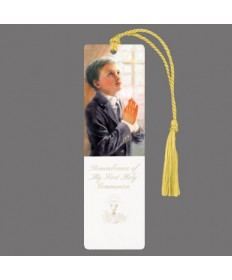 First Communion Bookmark for Boys