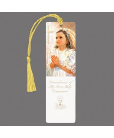 First Communion Bookmark for Girls