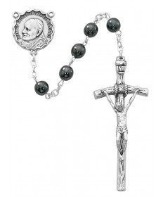 6 mm Hematite Beads Papal Rosary