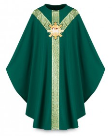 Chasuble by Slabbinck in Brugia Fabric with Lamb of God Emblem