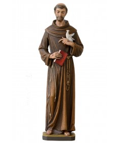 St Francis of Assisi with Dove and Book Statue by Demetz Art Studio