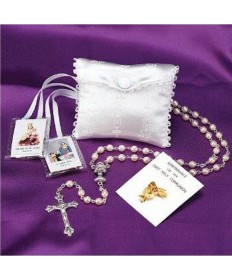 First Communion Girl's Delux Rosary Kit