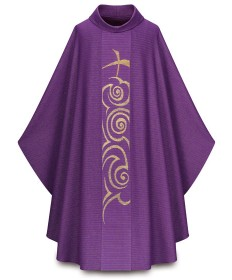 Chasuble by Slabbinck in Cantate Fabric - Advent Cross
