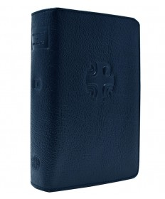 Liturgy of the Hours Leather Zipper Case Vol 1 (Blue)