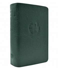 Liturgy of the Hours Leather Zipper Case Vol 4 (Green)